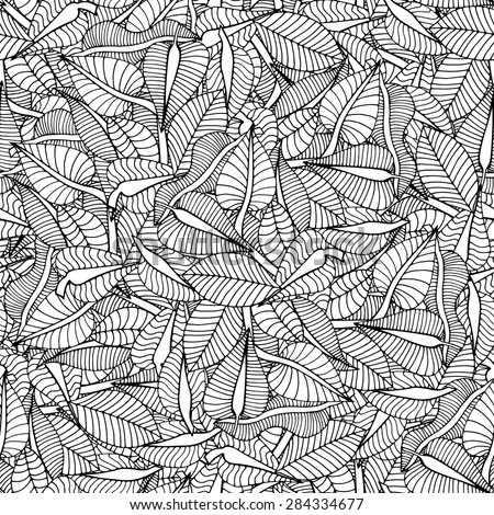 Beautiful Seamless leaf background pattern. Vector illustration - stock vector