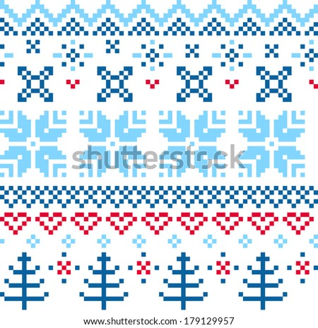 Beautiful seamless Norway pattern�  - stock vector