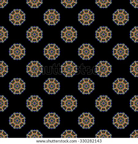 beautiful seamless pattern. Decorative elements.  - stock vector