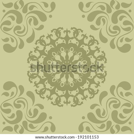 Beautiful seamless pattern with oriental elements - stock vector