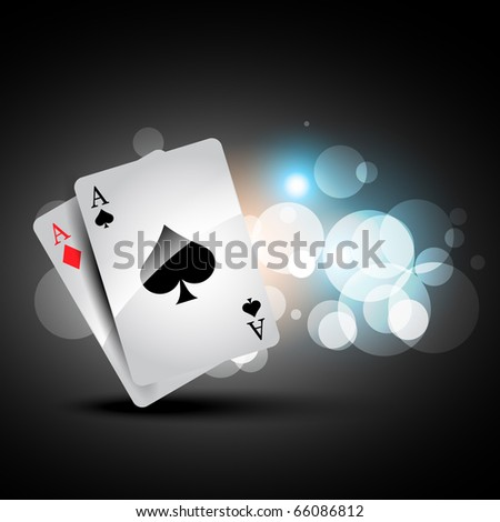 beautiful shiny playing cards illustration - stock vector