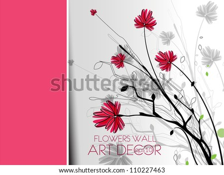 Beautiful spring flower colorful background design. - stock vector