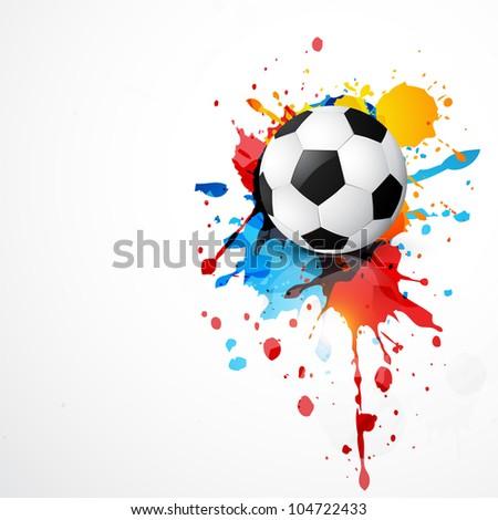 beautiful stylish vector football design - stock vector