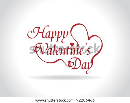 Beautiful valentine's day design - stock vector