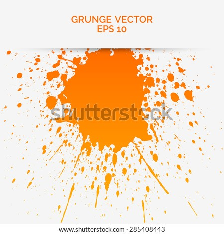 beautiful vector abstract or grunge in orange coloured textured effect in a crisp white colour background. - stock vector