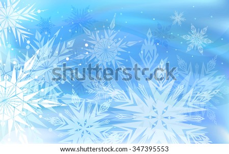 Beautiful vector background with snowflakes, Happy New Year. - stock vector