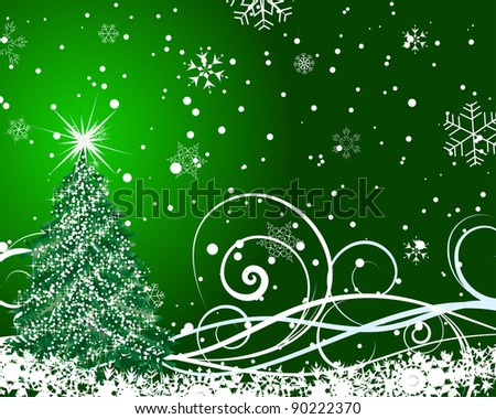 Beautiful vector Christmas (New Year) card for design use - stock vector