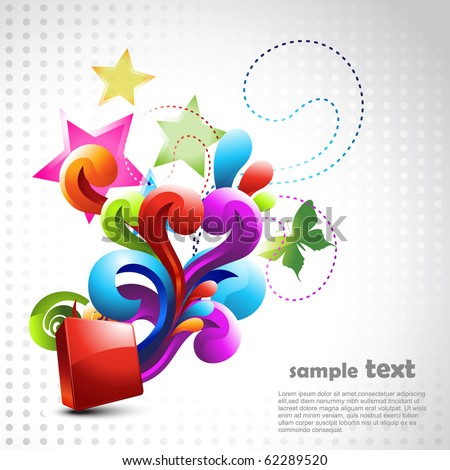 beautiful vector design background illustration - stock vector