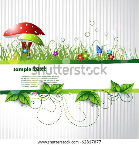 beautiful vector landscape design with space for your text - stock vector