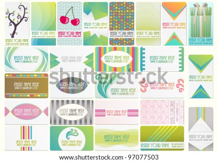 Beautiful vector set with various business cards - stock vector