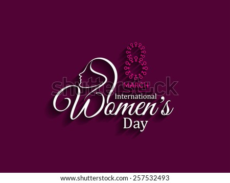 Beautiful vector text design for Women's day.   - stock vector