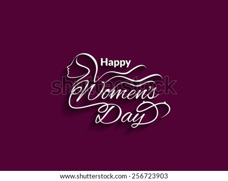 Beautiful vector text design of Women's day.  - stock vector
