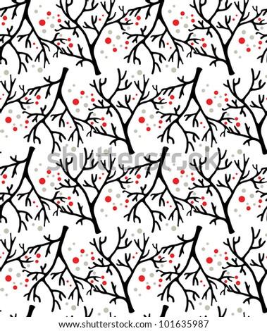 beautiful vector tree pattern - stock vector
