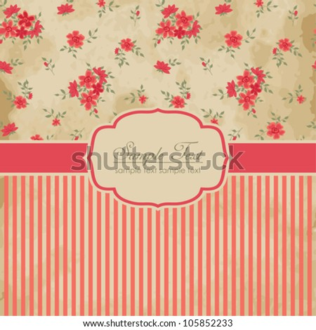 Beautiful vintage card - stock vector