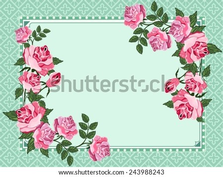 Beautiful vintage floral background with place for text. - stock vector