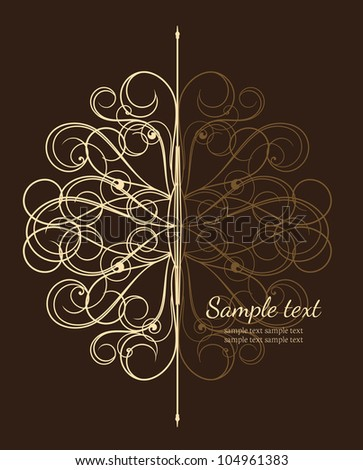 beautiful vintage with place for text - stock vector