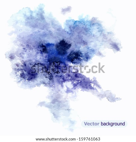 Beautiful watercolor abstraction. Vector background - stock vector