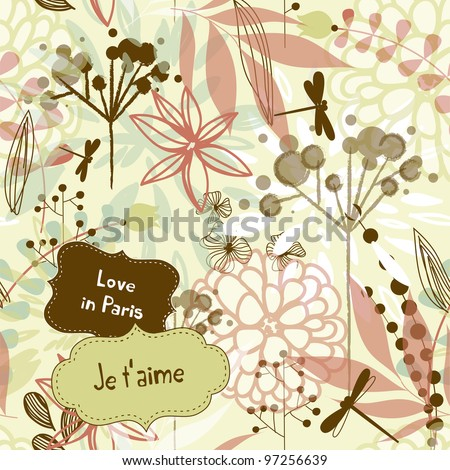 Beautiful watercolor style floral background - stock vector