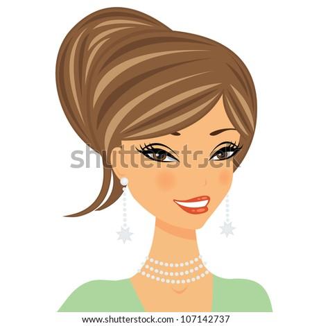 Woman Smiling Stock Vectors & Vector Clip Art | Shutterstock