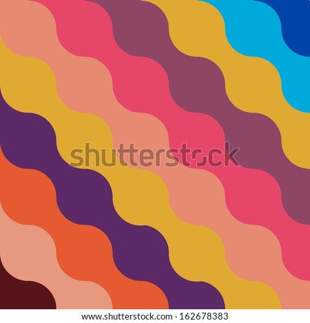 beautiful zigzag patterned background with soft retro colors. textile texture - stock vector