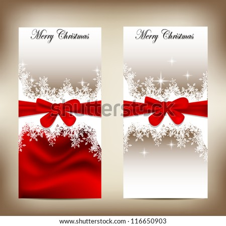 beauty christmas card with pine concept - stock vector