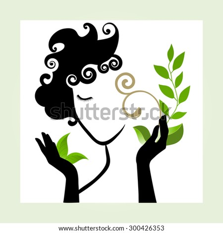 Beauty icon healthy natural concept  - stock vector