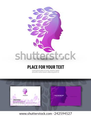 Beauty salon. Logo, icon, emblem, template, business - stock vector