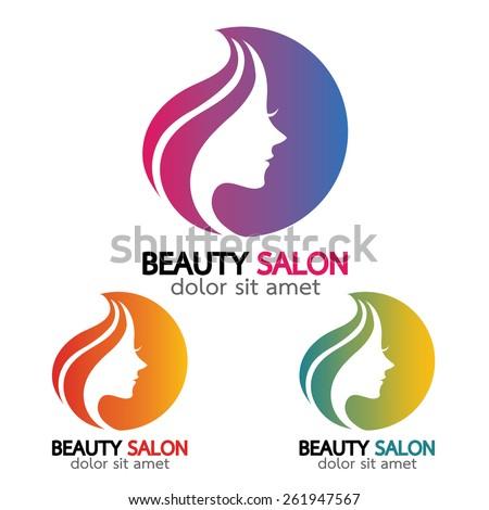Beauty salon sign Branding Identity Corporate vector logo design template.- vector illustration - stock vector
