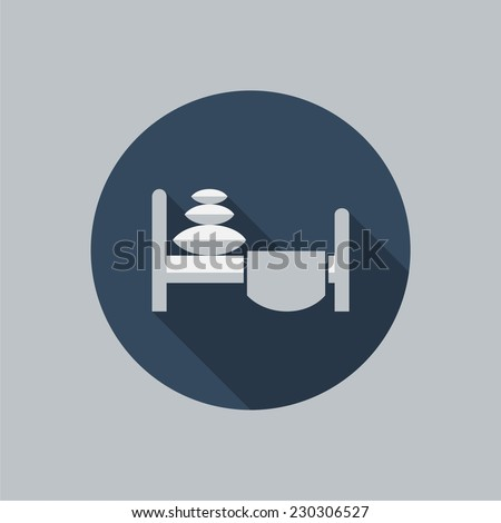 Bed icon. Vector silhouette. - stock vector