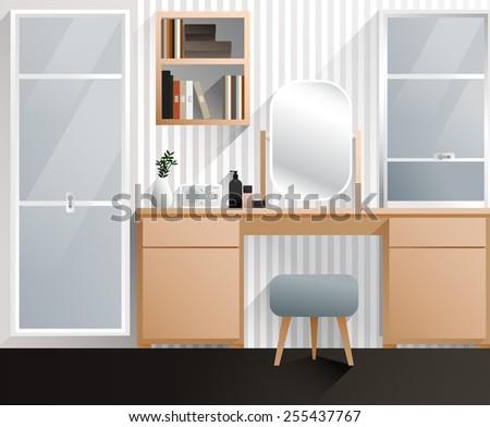 Bedroom :Vector Illustration - stock vector