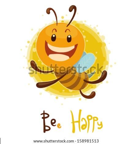 BEe  Happy, vector - stock vector
