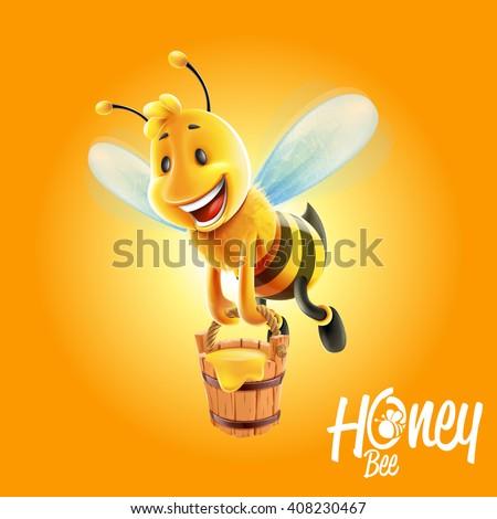 bee honey - stock vector