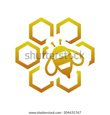 bee with comb - stock vector