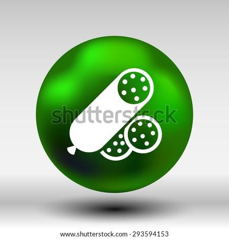 beef delicious sausage food logo design icon. - stock vector