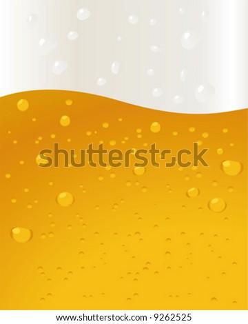 Beer Background bubbles - stock vector