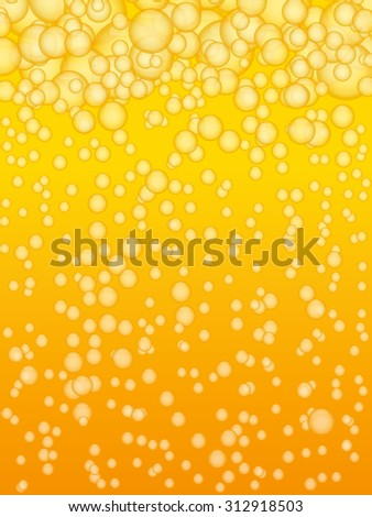 Beer background with bubbles. Golden. Eps 10 - stock vector