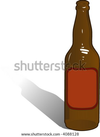 beer bottle - stock vector