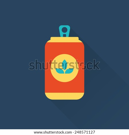 beer can flat style icon  - stock vector