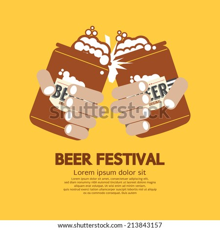Beer Festival Graphic Vector Illustration - stock vector