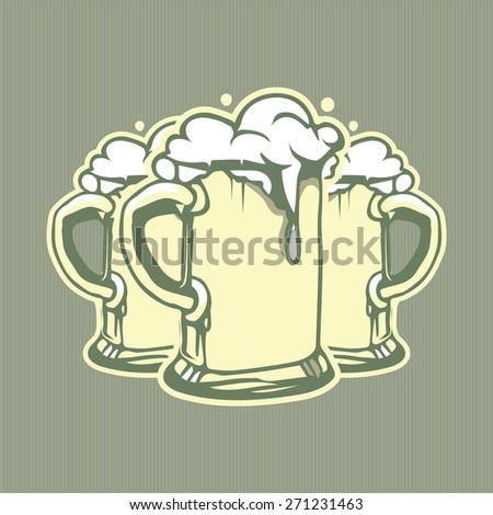 beer glass background - stock vector