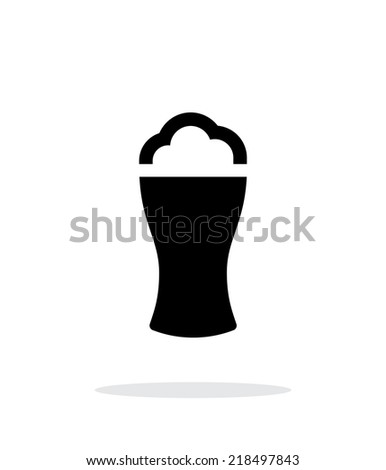 Beer glass with foam simple icon on white background. Vector illustration. - stock vector
