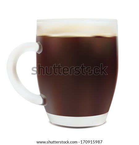Beer in mug. Realistic vector - stock vector