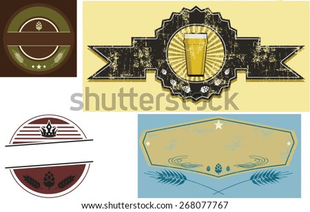 beer labels - stock vector