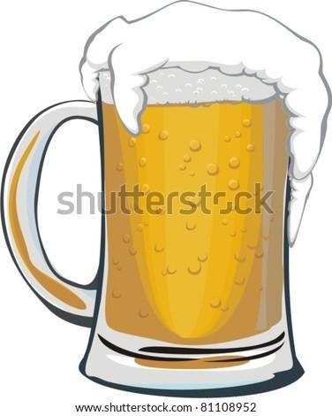 Beer mug - stock vector