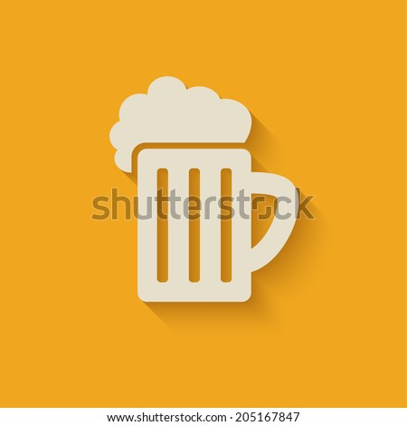 beer mug design element - stock vector