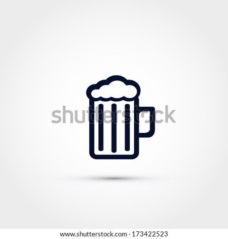 Beer mug icon - stock vector