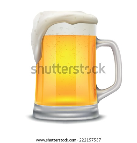 beer mug isolated on a white background - stock vector