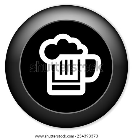 beer sign icon. Alcohol drink symbol - stock vector