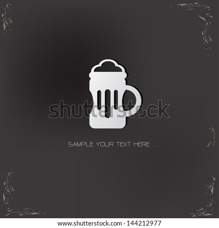 Beer symbol,vector - stock vector