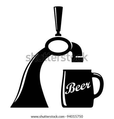 Beer tap. - stock vector